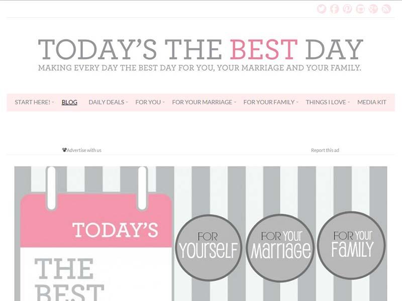 Today's The Best Day - Website Screenshot