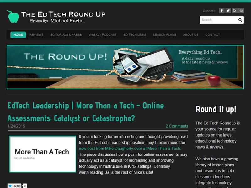 EdTech Roundup - Website Screenshot