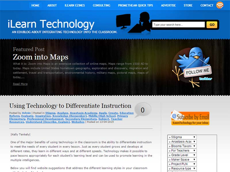 iLearn Technology - Website Screenshot