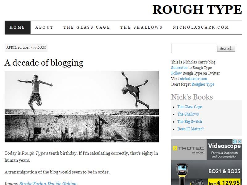 Rough Type - Website Screenshot