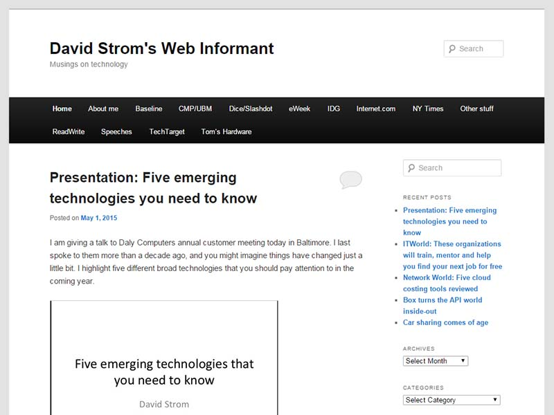 Strominator - Website Screenshot