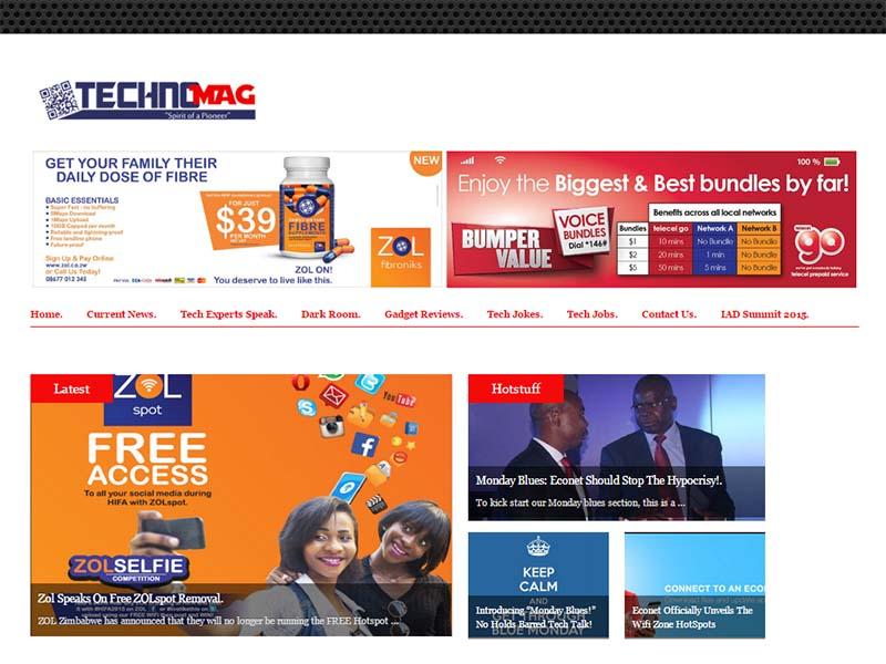 TechnoMag - Website Screenshot
