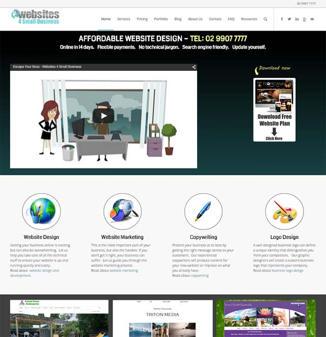 Websites for small business by ivana katz ivana katz interview website screenshot solutioingenieria Images