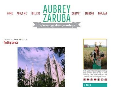 Aubrey Zaruba - Website Screenshot