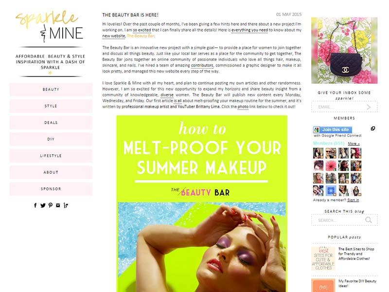 Sparkle & Mine - Website Screenshot