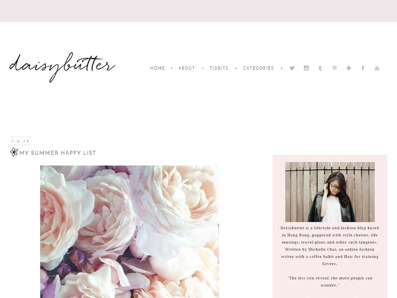 Daisybutter - Website Screenshot