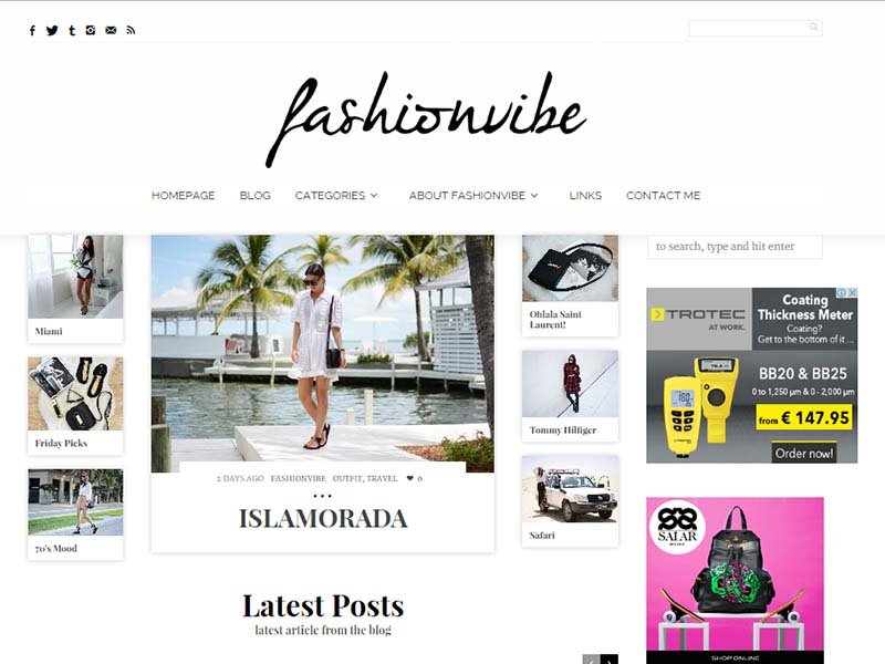 Fashion Vibe - Website Screenshot