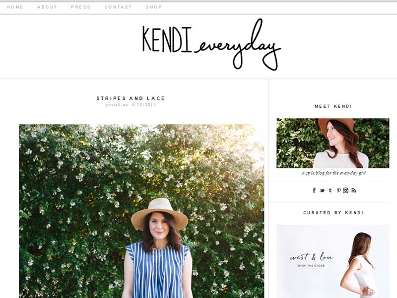Kendi Everyday - Website Screenshot