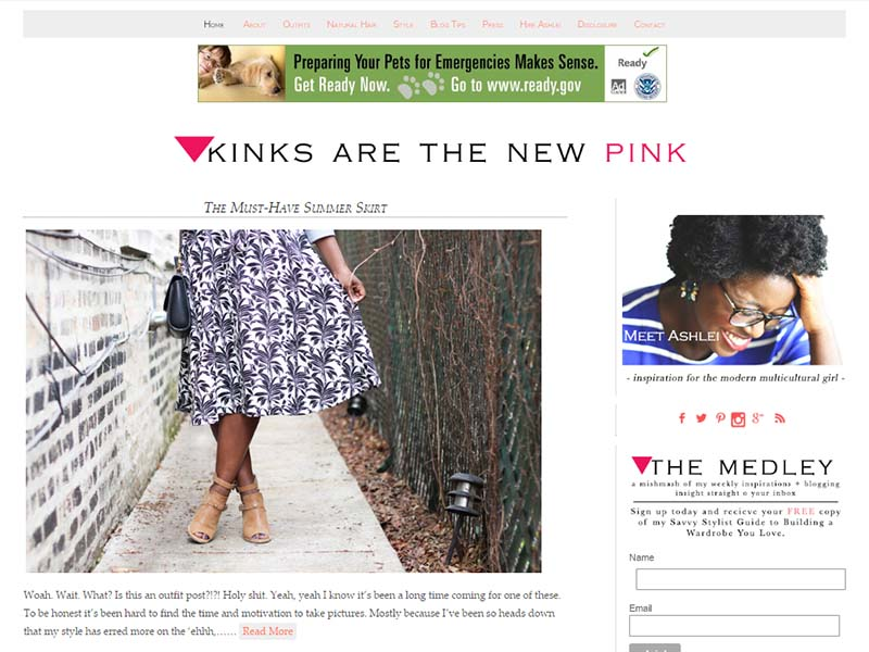 Kinks Are The New Pink - Website Screenshot