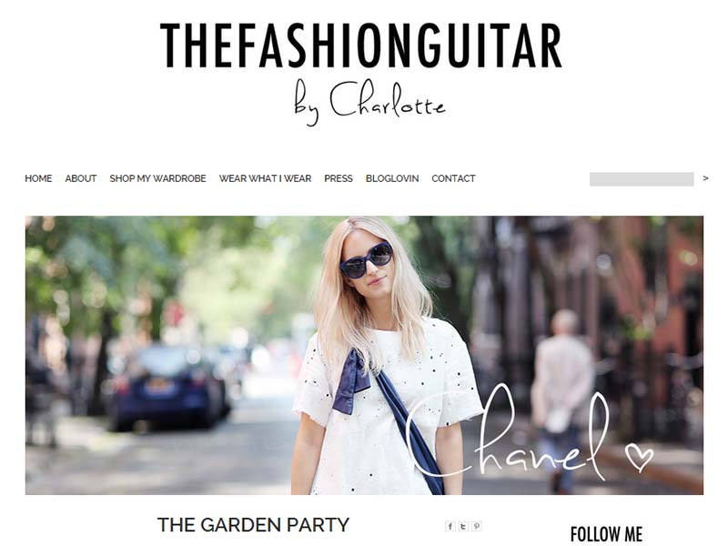 The Fashion Guitar - Website Screenshot