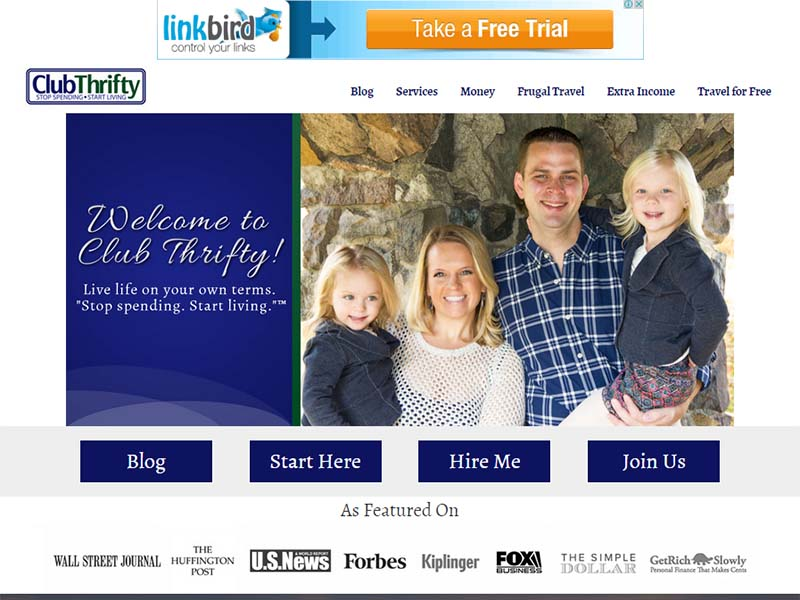 Club Thrifty - Website Screenshot