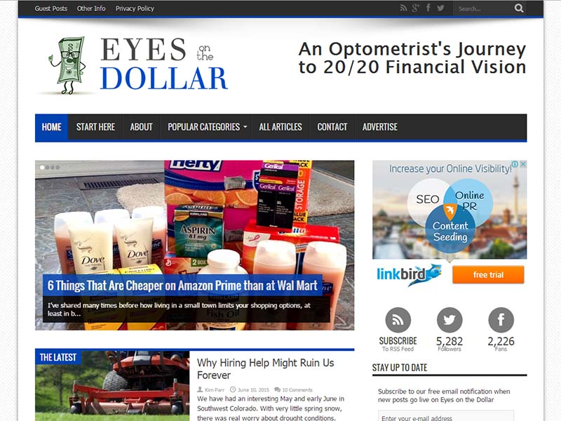 Eyes on the Dollar - Website Screenshot