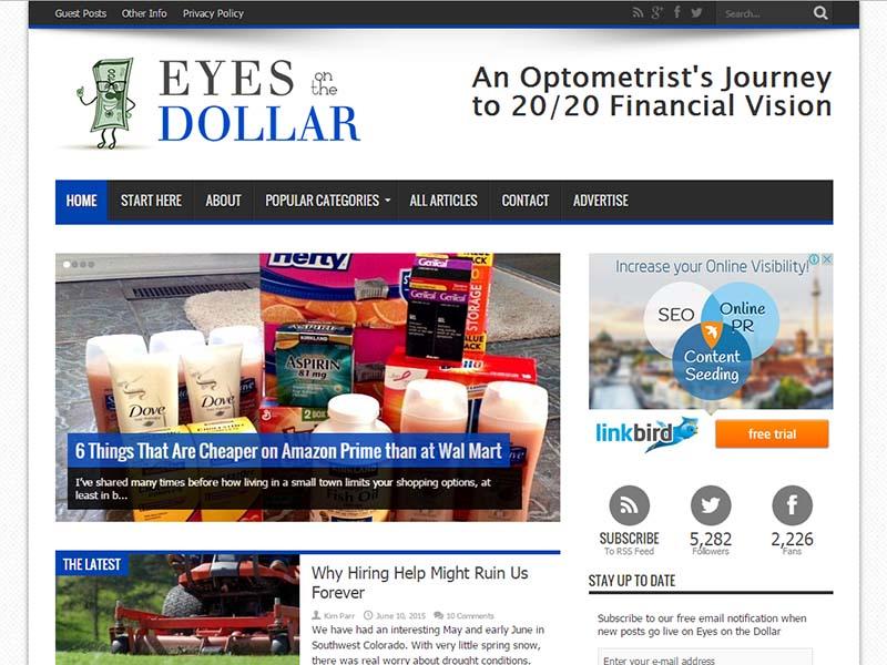 Eyes on the Dollar - Website Screenshot