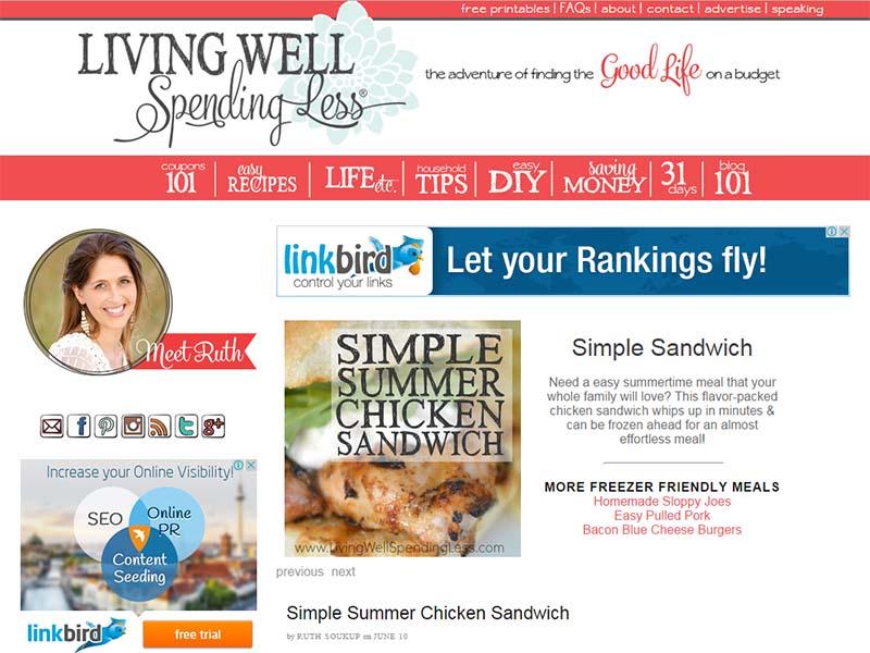 Living Well Spending Less - Website Screenshot