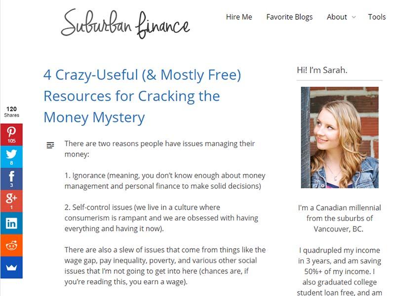 Suburban Finance - Website Screenshot