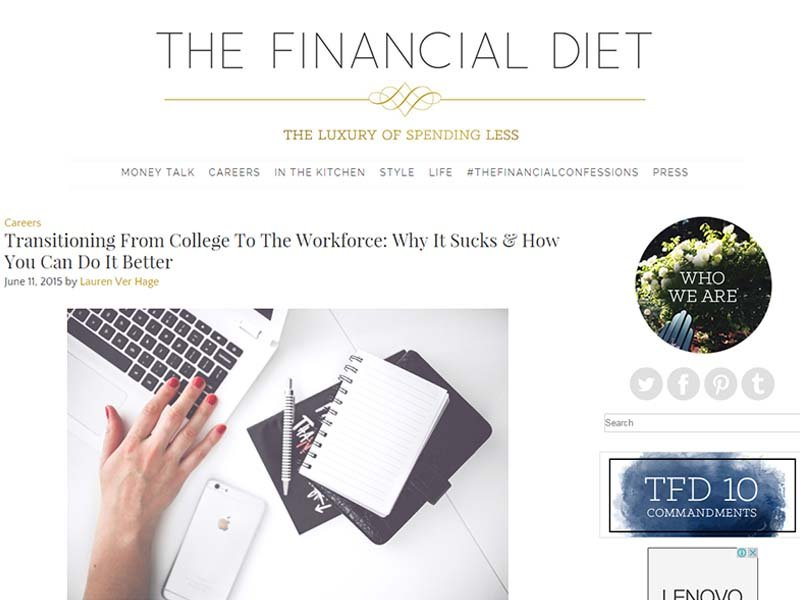 The Financial Diet - Website Screenshot