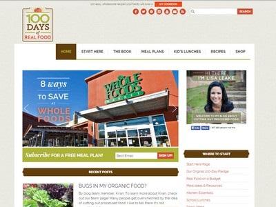 100 Days of Real Food - Website Screenshot
