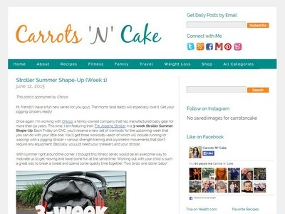 Carrots 'N' Cake - Website Screenshot