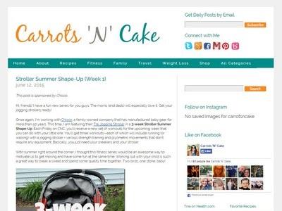Carrots 'N' Cake - Website Screenshot