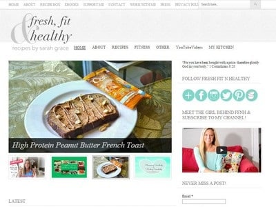 Fresh, Fit & Healthy - Website Screenshot