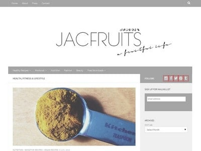 Jacfruits  - Website Screenshot
