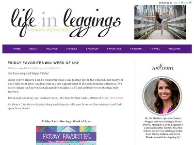 Life In Leggings  - Website Screenshot
