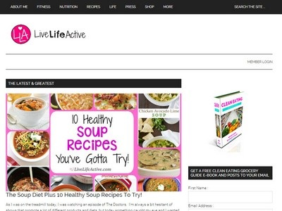 Live Life Active - Website Screenshot