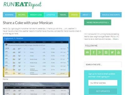 Run Eat Repeat - Website Screenshot