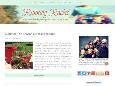 Running Rachel - Website Screenshot