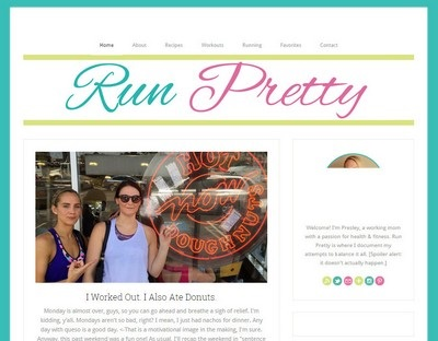 Run Pretty - Website Screenshot