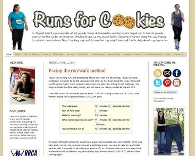 Runs for Cookies - Website Screenshot