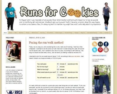Runs for Cookies - Website Screenshot