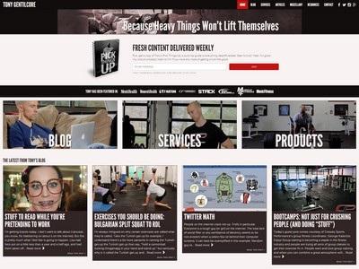 Tony Gentilcore - Website Screenshot