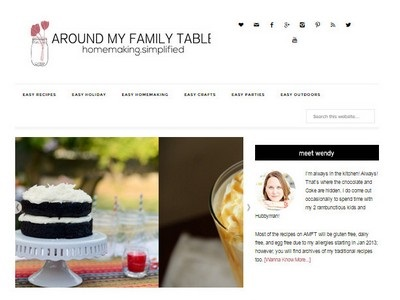 Around My Family Table - Website Screenshot