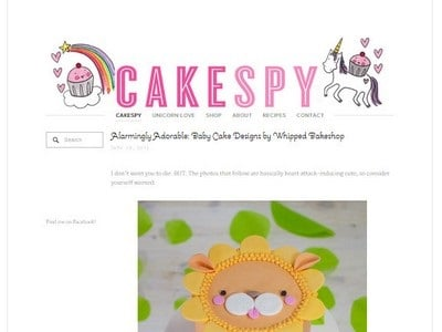 Cake Spy - Website Screenshot