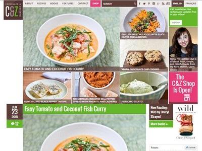 Chocolate and Zucchini- Website Screenshot