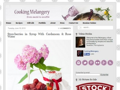 Cooking Melangery - Website Screenshot