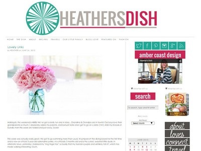 Heather's Dish - Website Screenshot