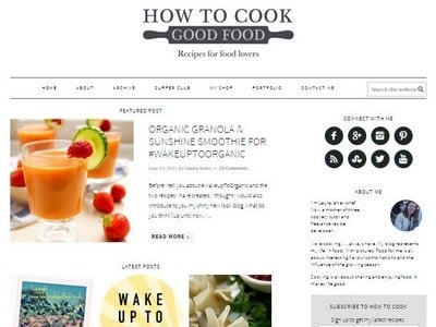 How To Cook Good Food - Website Screenshot