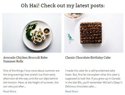 I am a Food Blog - Website Screenshot