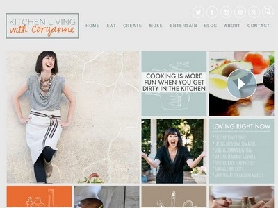 Kitchen Living With Coryanne - Website Screenshot
