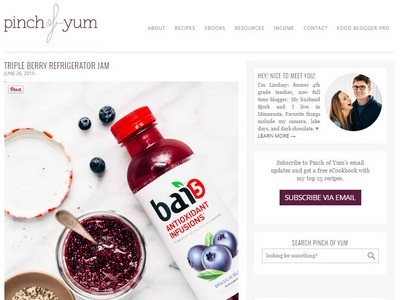 Pinch of Yum - Website Screenshot