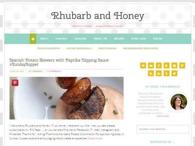 Rhubarb and Honey - Website Screenshot