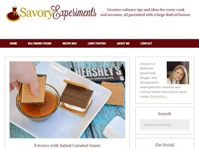 Savory Experiments - Website Screenshot
