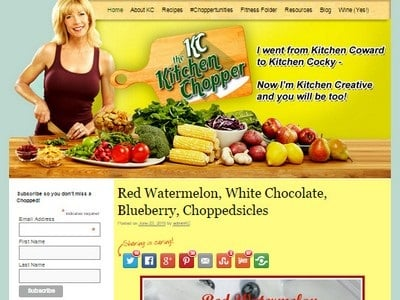 The Kitchen Chopper- Website Screenshot