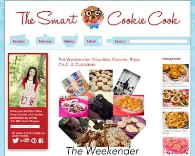 The Smart Cookie Cook - Website Screenshot