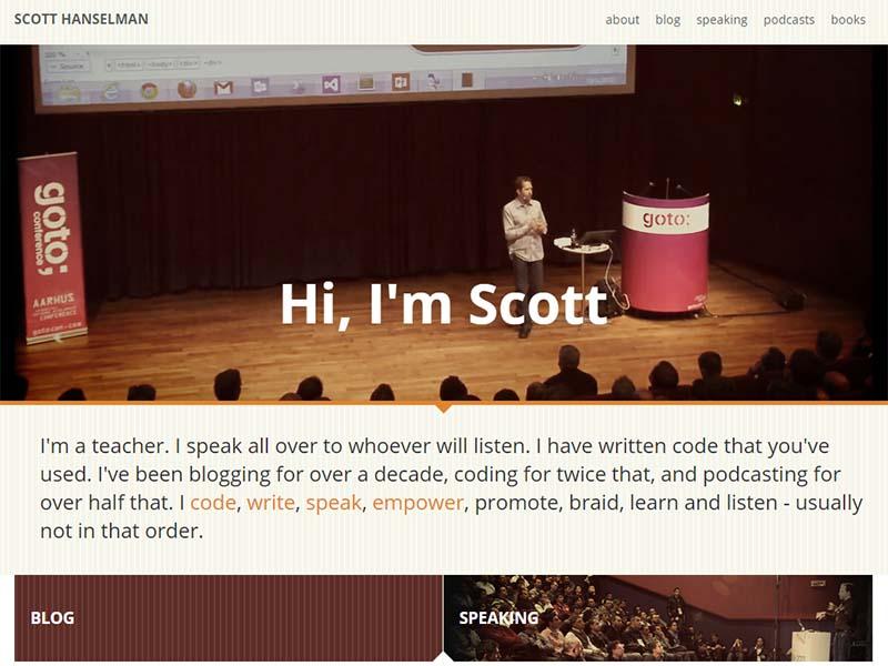 Scott Hanselman - Website Screenshot