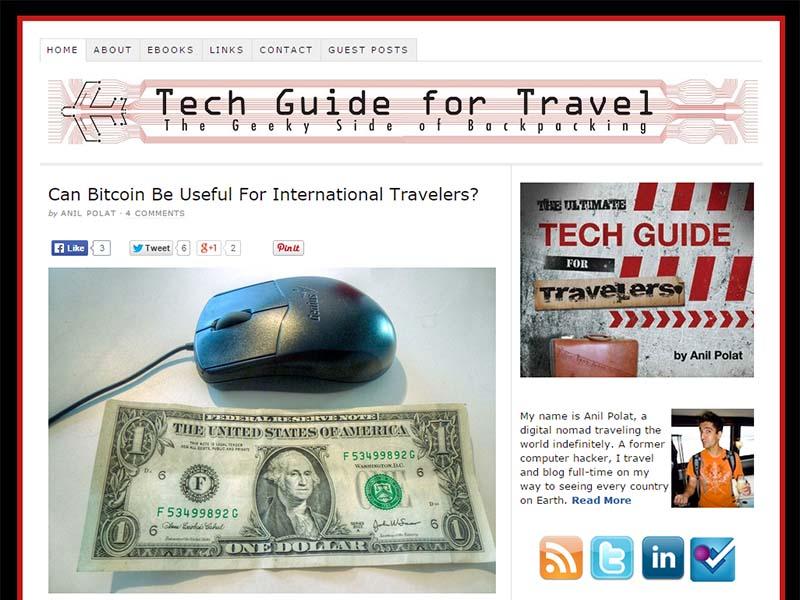 Tech Guide for Travel - Website Screenshot