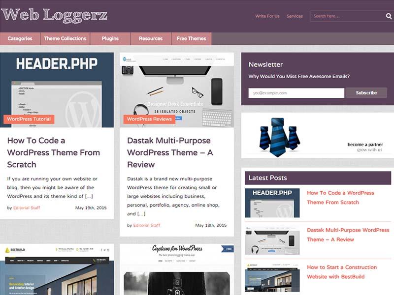 Web Loggerz - Website Screenshot