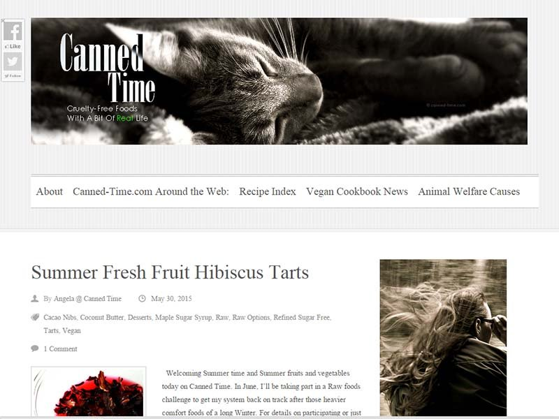 Canned Time - Website Screenshot